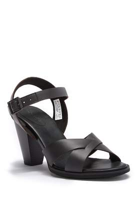 Timberland Derby Heights Leather Stacked Heel Sandal