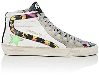 "Golden Goose Women's ""Slide"" Leather Sneakers - White"