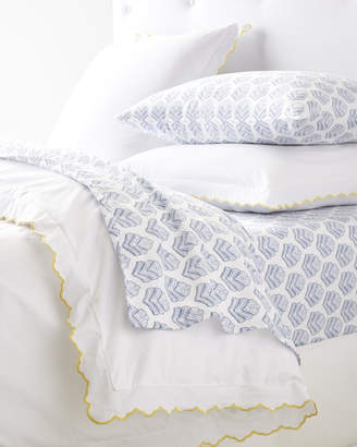Serena & Lily Scallop Embroidered Duvet Cover - Sunshine