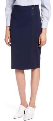 Halogen Textured Ponte Pencil Skirt