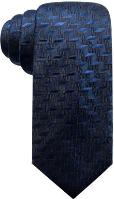 Alfani Men Errol Slim Chevron Stripe Silk Tie