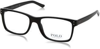 Polo Ralph Lauren mens PH 2057 Shiny Black Frame/Demo Lens sportMM non-polarized Eyeglasses 5001