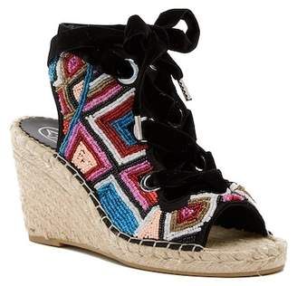 Ash Pamela Beaded Espadrille Wedge Sandal
