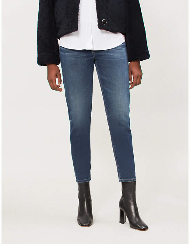 The Ex-Boyfriend cropped straight high-rise jeans