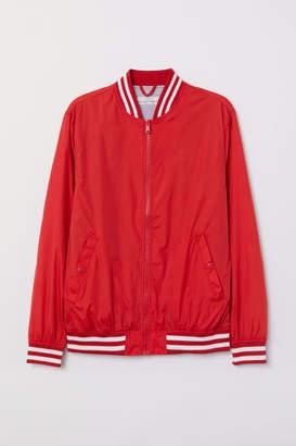 H&M Nylon Baseball Jacket - Red