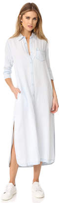 DL1961 Fire Island Maxi Shirt Dress $198 thestylecure.com