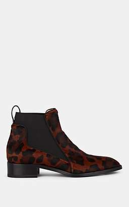 Christian Louboutin Women's Marmada Leopard-Print Calf Hair Chelsea Boots - Roux