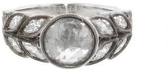 Cathy Waterman Round Rose Cut Diamond Garland Ring - Platinum