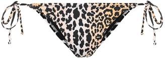 Reina Olga Love Triangle leopard-print bikini bottoms