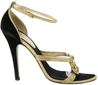 Roberto Cavalli Gold Leather Heels