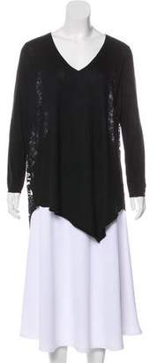 Joie Lace-Accented Oversize Sweater