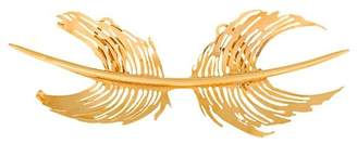 Paco Rabanne feather cast brooch