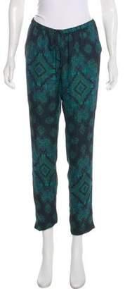 Haute Hippie Mid-Rise Silk Pants