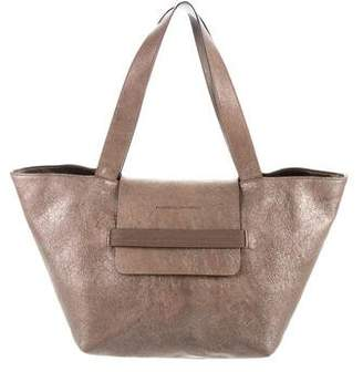 Brunello Cucinelli Metallic Leather Satchel