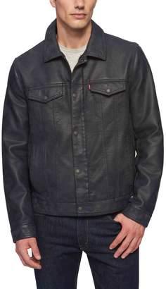 Levi's Levis Men's Classic Faux-Leather Trucker Jacket
