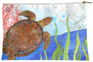 Sally Eckman Roberts Large Oceana-Turtle Pouch