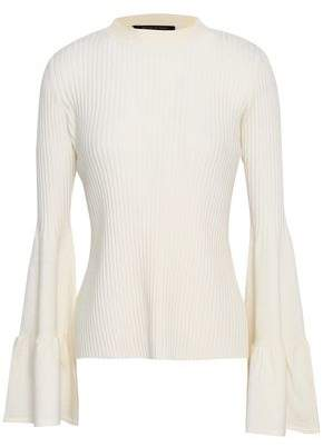 Mother of Pearl Corinne Fluted Ribbed-Knit Sweater