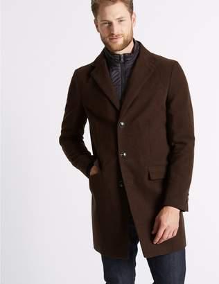 Marks and Spencer Pure Cotton Moleskin Revere Overcoat