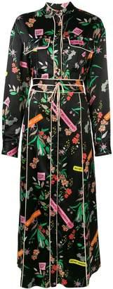 Pinko Rosalinda floral maxi dress