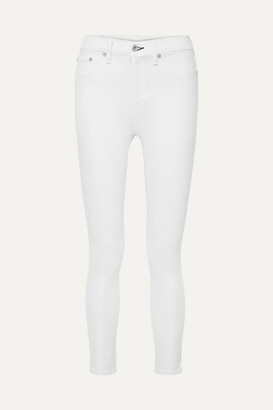 Rag & Bone Cropped High-rise Skinny Jeans - White
