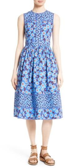 Women's Kate Spade New York Tangier Floral Midi Dress