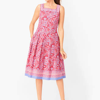 Talbots Medallion Fit & Flare Dress
