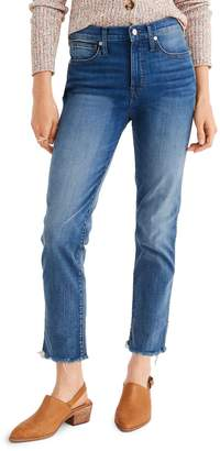 Madewell Stovepipe Jeans Fluffy Hem Edition