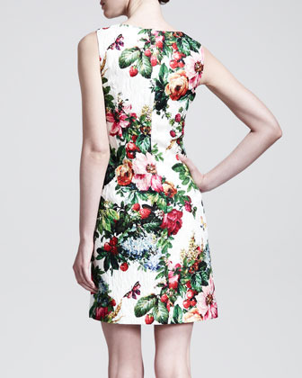 Dolce & Gabbana Sleeveless Floral-Print Shift Dress