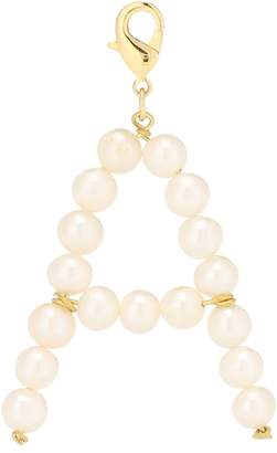 Timeless Pearly Letter A pearl-embellished charm