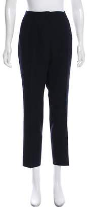 Rene Lezard Wool High-Rise Pants