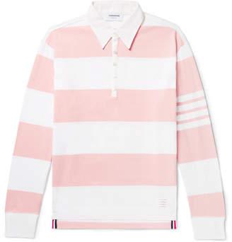 Thom Browne Striped Cotton Polo Shirt