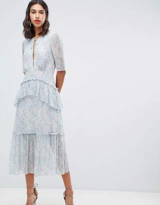 Stevie May Iris tier midi floral dress