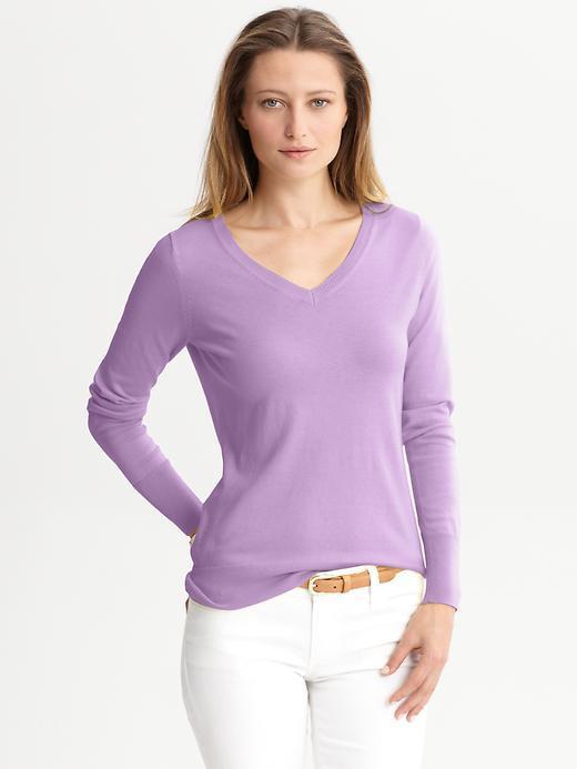 Silk/cotton v-neck sweater