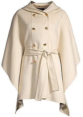 Escada Women's Madisona Hooded Wool & Cashmere Cape Coat