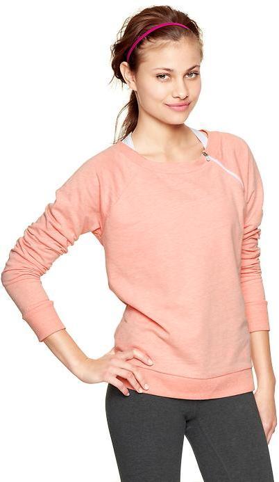 Gap GapFit terry shoulder-zip sweatshirt