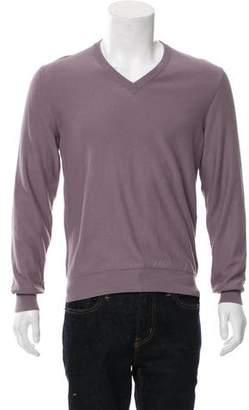 Maison Margiela Suede-Trimmed Knit Sweater w/ Tags