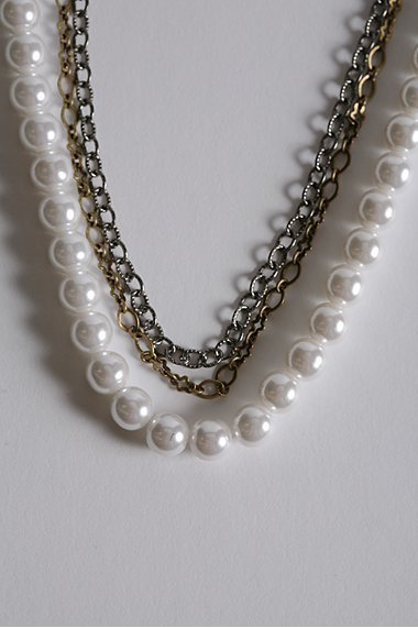 Long Layered Chain Necklace