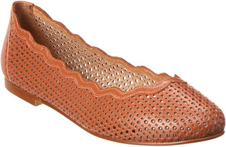 French Sole Teacup Leather Flat