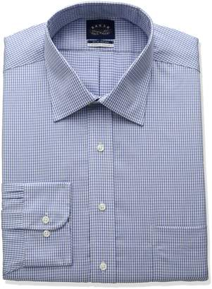 Eagle Men's Non Iron Stretch Collar Big Check Spread Collar Dress Shirt