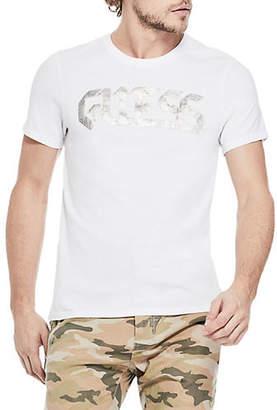 GUESS Caviar Logo Cotton T-Shirt