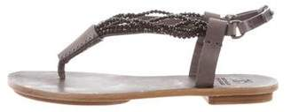 Brunello Cucinelli Beaded Thong Sandals w/ Tags