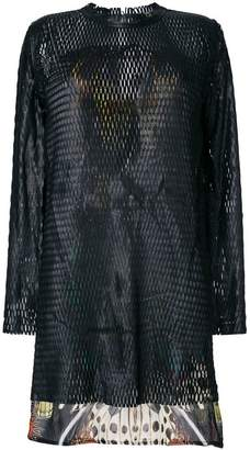 Roberto Cavalli perforated layered dress