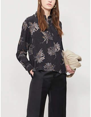 97ebe22cf2207 Vince Floral-print silk-crepe shirt