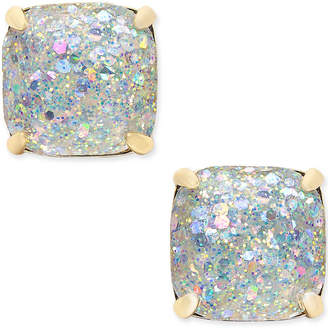 kate spade new york 14k Gold-Plated Glittery Purple Square Stud Earrings $38 thestylecure.com