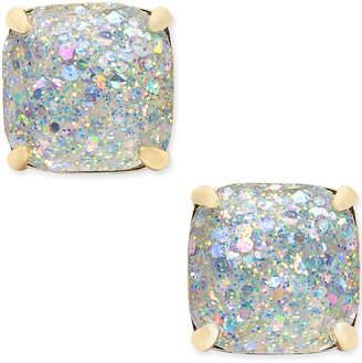 Kate Spade 14k Gold-Plated Glittery Purple Square Stud Earrings