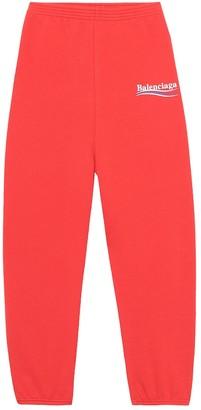 Balenciaga Kids Kids' cotton-blend trackpants