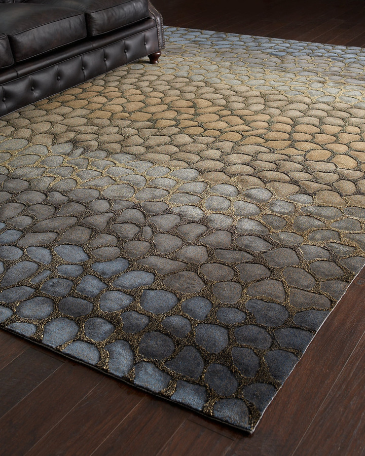 "Horchow ""Jaded Pebbles"" Rug, 3'6"" x 5'6"""