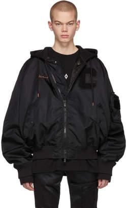 Marcelo Burlon County of Milan Black Muhammed Ali Edition Bomber Jacket