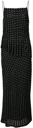 Nicole Miller studded panel midi dress
