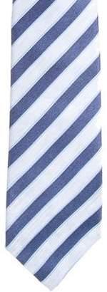 Isaia Striped Silk-Blend Tie